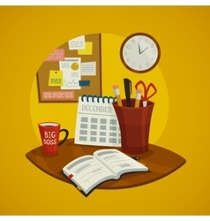 Workplace Design Concept Set vector image vector image