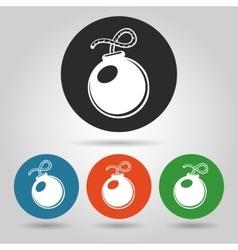 Flat bomb icons set vector image
