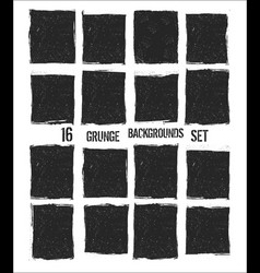 grunge background set vector image