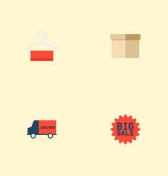 set of magazine icons flat style symbols with box vector image vector image