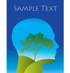 tree landscape thoughts vector image