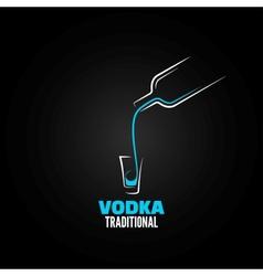 vodka shot glass bottle design background vector image vector image