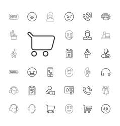 33 customer icons vector
