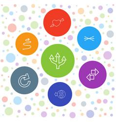 7 arrows icons vector