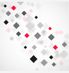 abstract background with black and red squares vector image