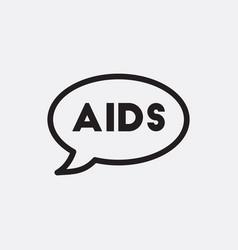 Aids in talk cloud vector