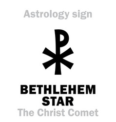 Astrology bethlehem star the christ comet vector
