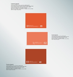 Bar template consists of three orange parts on vector