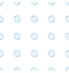 Beach ball icon pattern seamless white background vector