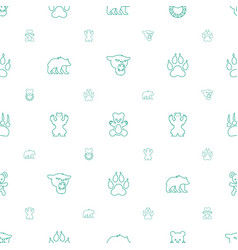 bear icons pattern seamless white background vector image