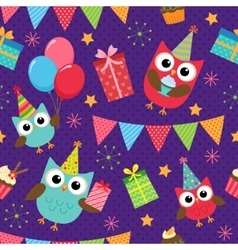Birthday party pattern vector image