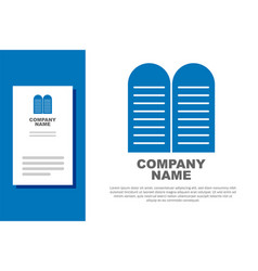 Blue commandments icon isolated on white vector