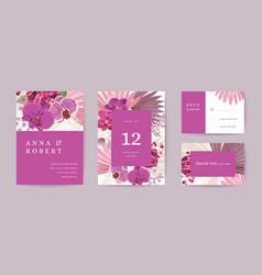 boho wedding invitation card vintage save vector image