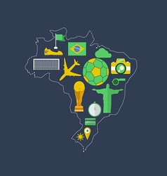 Brazil worldcup event flat design vector