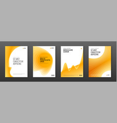Brochure cover design templates set for business vector