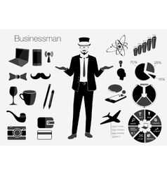 Businessman style elements vector