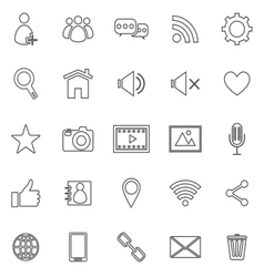 Chat line icons on white background vector image