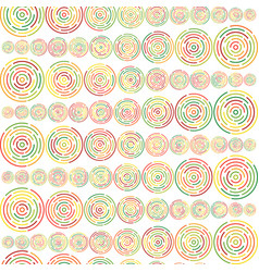 circles sized seamless pattern vector image