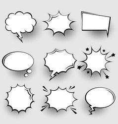 collection empty comic speech bubbles with vector image