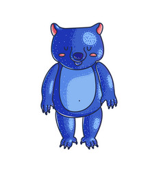 cute bear cartoon character vector image