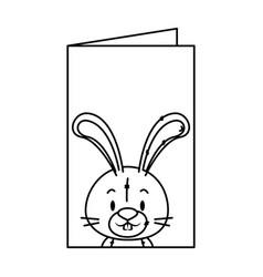 cute little rabbit character vector image