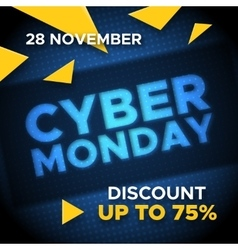 Cyber Monday promo banner background vector
