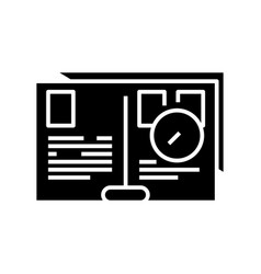 Daily planning black icon concept vector