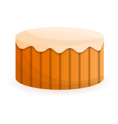 decoration birthday cake icon cartoon style vector image