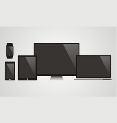 electronic devices with black screens vector image