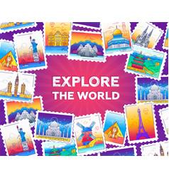 Explore world - line travel vector