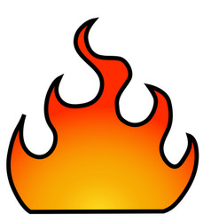fire with a frame vector image