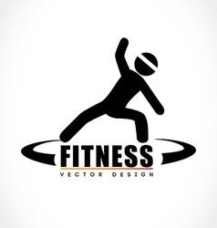 Fitness design over white background vector
