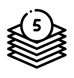 Five layers icon outline vector