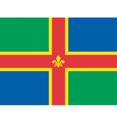 Flag of Lincolnshire vector