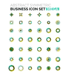 Flower star shaped business icons vector