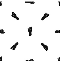foot left leg pattern seamless black vector image