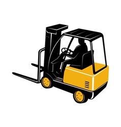Forklift truck vector