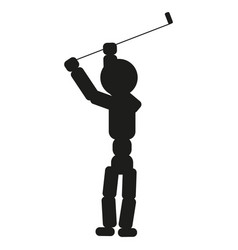 golfer man sign black icon vector image
