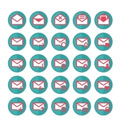 Green mail icons vector image