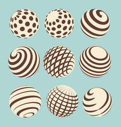 halftone abstract spheres design vector image