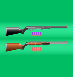 hunting rifle and cartridges vector image