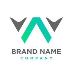 initial logo wa vector image