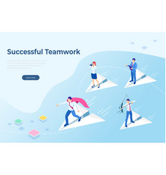 isometric start up concept income and success vector image