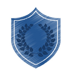 Justice shield with wreath isolated icon vector