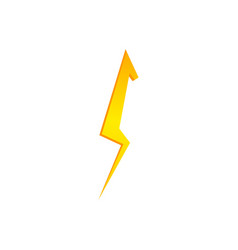 lighting thunder bolt flash yellow icon set in vector image
