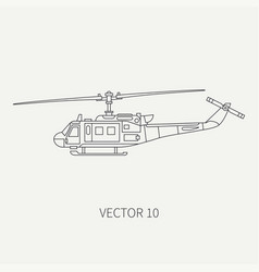 line flat icon military turboprop vector image