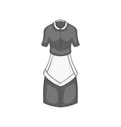 Maid costume icon black monochrome style vector