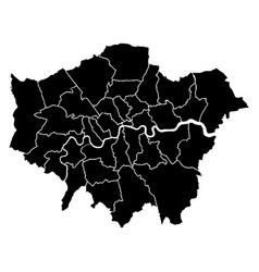 map of london vector image