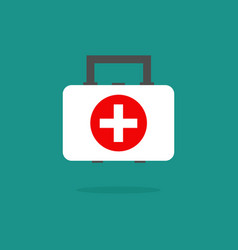 medical bag icon medecine element for mobile vector image
