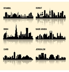 Middle East cities set vector